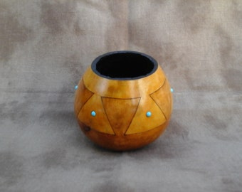 "Gourd "" Pottery"" Bowl"