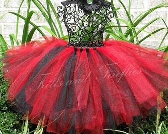 Black and Red Tutu/Tulle Skirt/Costume/Skirt/Halloween/Festival Clothing/Dance/Wedding Skirt/Ballet Skirt/Tutu Skirt/Tulle Skirt Women