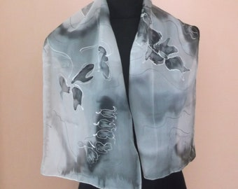 Silk Scarf Hand-painted
