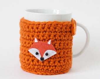 Mug dressed in wool, Fox figure