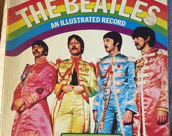 SALE 1975 The Beatles: An Illustrated Record by Roy Carr, Tony Tyler Vintage Rock n Roll Book