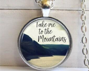 Take Me To The Mountains - Mountain Necklace