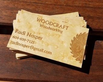 Wood business card etsy quick view business cards wood colourmoves