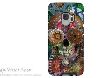 Steampunk Mechaniskull Sugar Skull Case for Samsung Galaxy S9 - Day of the Dead S9 Dual Layer Case by Da Vinci Case