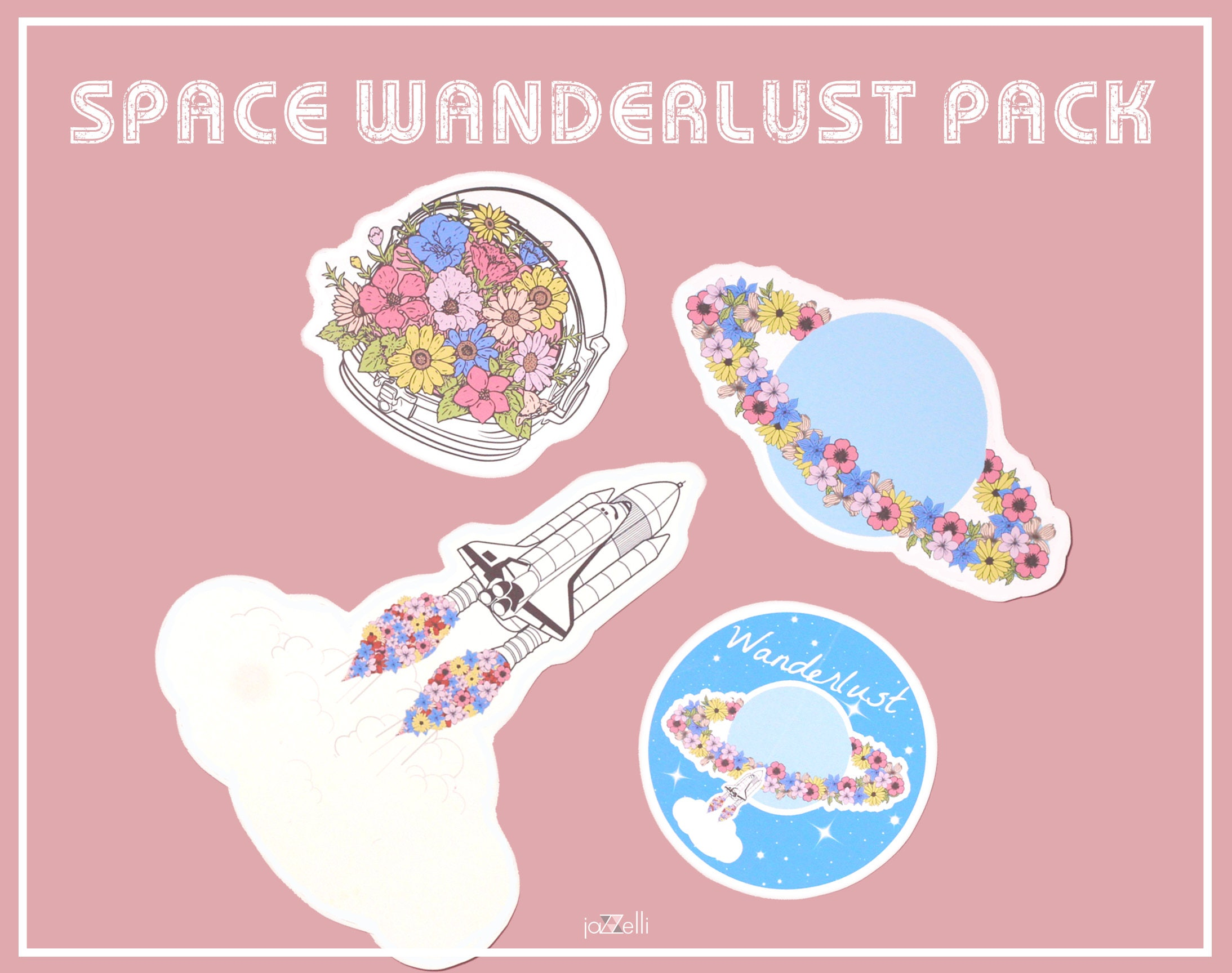 Wanderlust Space sticker Pack Cute Stickers Cosmonaut for Cute Stickers Tumblr Hd  177nar
