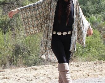 Kimono, Boho Kimono, Bohemian, Kimono Cardigan, Kimono Jacket, Swimsuit Cover up, Festival Clothing, Coverup, Tribal Kimono, Gypsy, Hippie