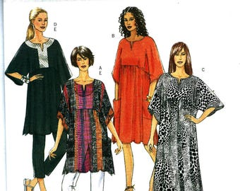 OOP Misses Tunic, Caftan, Dresses & Crop Pants Sewing Pattern - Butterick B5361 Easy Sewing Pattern Uncut -Size Groups XS -S-M