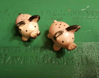 Antique Collectible Pig Salt and Pepper Shakers