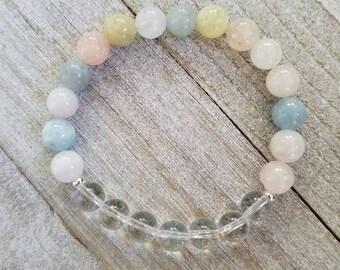 Clear Love Bracelet + Stackable Bracelet + Reiki Infused + Spiritual Jewelry + Yoga Jewelry