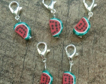 Watermelon Fimo Stitch Marker Set