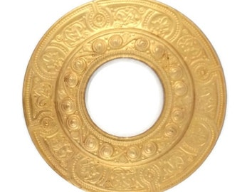 50off Large Porthole Port Hole Filigree Raw Brass Stamping Gold 74mm Qty 1 One Made in the USA
