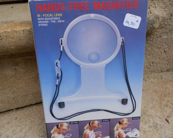 Magnifying glass hands-free adjustable cord