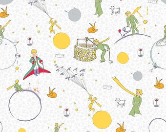 The Little Prince Main White - Riley Blake Designs - Boy - Quilting Cotton Fabric - choose your cut