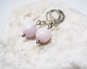 Pink Kunzite Earrings Kunzite Earrings Pink Kunzite Jewelry Love Jewelry  Dangle Earings Charm Earrings Kunzite Charm Gemstone Earrings