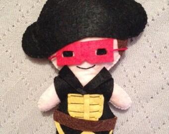 Red Bandit Felt Plushie