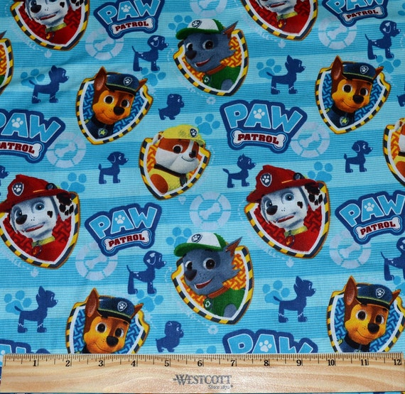 Retired PAW PATROL FABRIC 1 2 Yard For Quilting Marshall