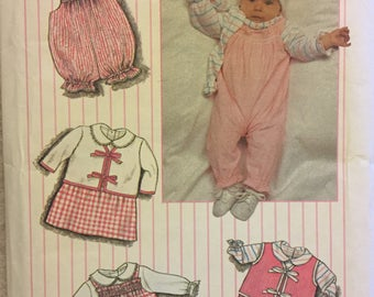 Babies' Layette with Dress  Sewing Pattern Simplicity 6666  UNCUT COMPLETE 7-24 Pounds