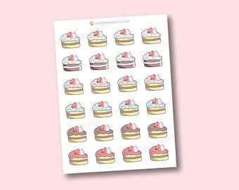 Kawaii Kuchen Aufkleber - niedliche Planer Aufkleber, Erin Condren Aufkleber, persönliche Planer, Kochen
