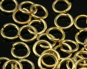 Open jump ring 5 mm 20 gauge( 0,8 mm ) raw brass jumpring 520JR-5.6 1157R