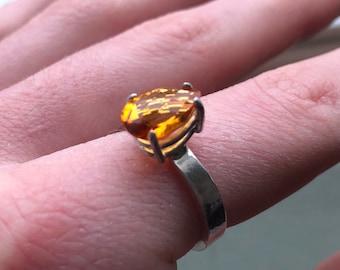 Orange Citrine Ring