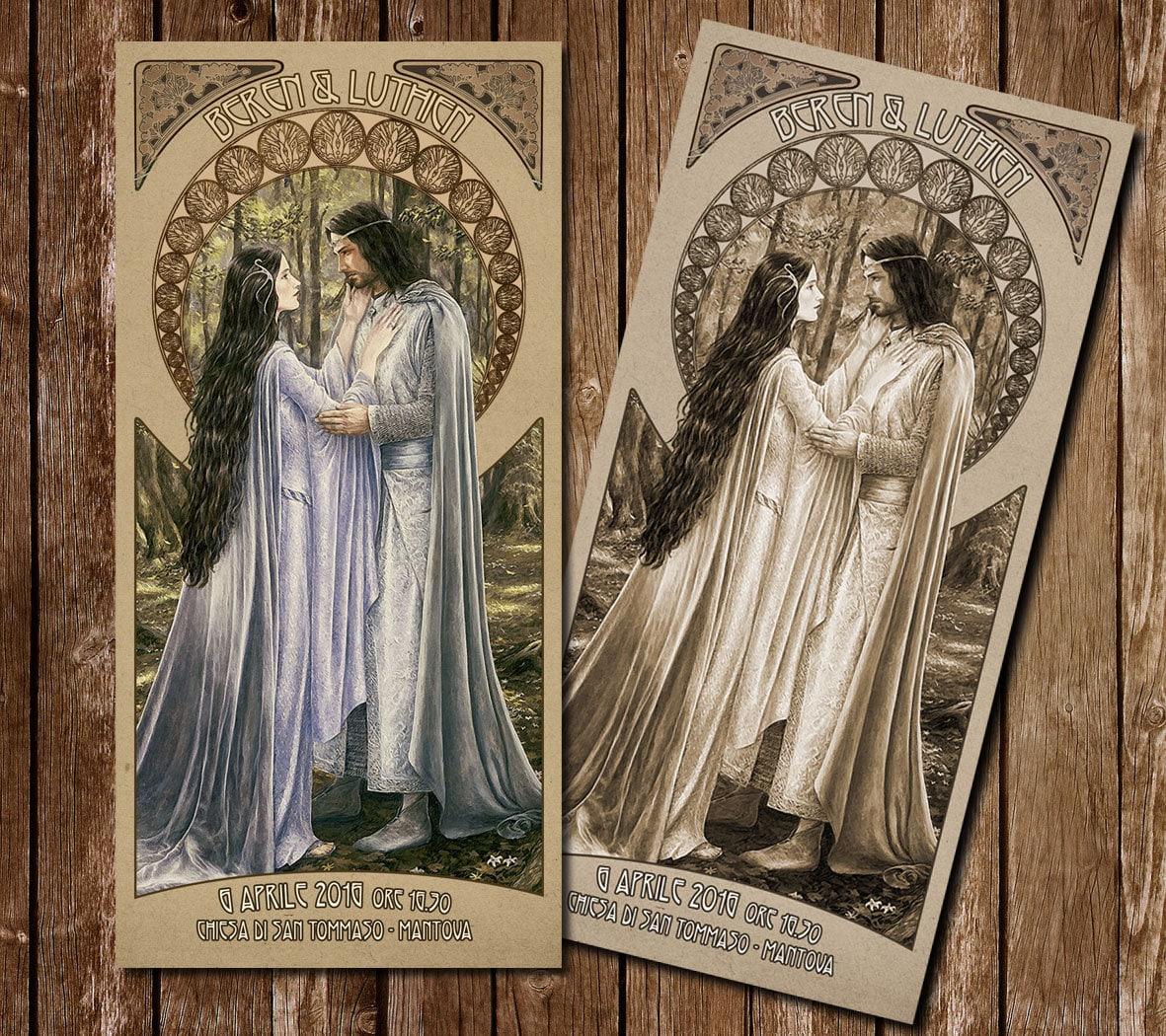 Teilnahme an Hochzeitsstil Herr der Ringe Aragorn und Arwen