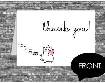 Kitten Thank You Card