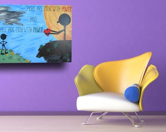 There Are Men---Oversized Acrylic Painting---Words on Canvas 30x40