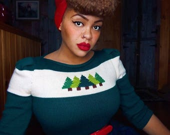 Dressed to the Pines sweater