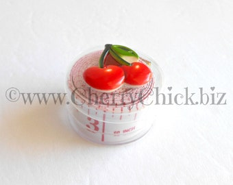 Tape measure - Cherry sewing tape measure - Quilting Accessory - Gift for Quilters - Gift for Seamstress - Cherries - Quilt Retreat gifts