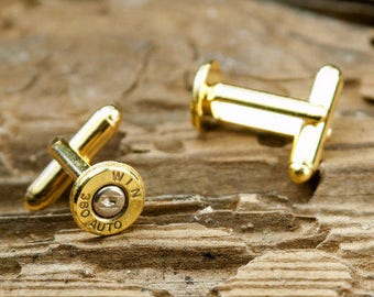 Bullet Cufflinks, Winchester 380 Auto Brass Bullet Cufflinks, Wedding Cufflinks, Wedding Cuff Links, 380 Auto Cufflinks, 380 Auto Cuff Links