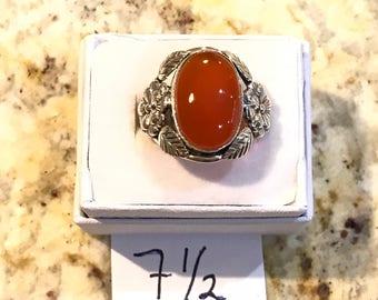 Carnelian Ring Size 7 1/2