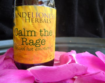 Calm The Rage: Elixir to Cool Hot Emotions with Rose, Violet, Milky oats, Skullcap, and Hollyhock - for PMS, Moms/Parents, Times of Stress