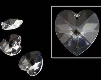 14.4mm x 14mm Swarovski 6202 Crystal Heart Drop