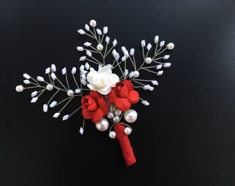 Wedding Flower Buttonhole.