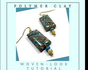 Polymer Clay Tutorial- Woven-Look Jewelry- Organic Earring Tutorial- Jewelry Making Tutorial- Easy Polymer Clay Tutorial