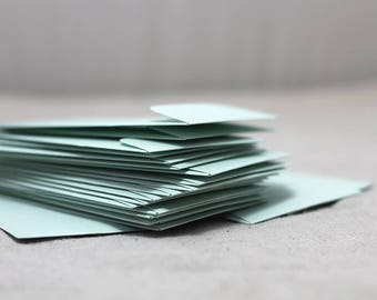 "25 Mini Seed Metallic Mint Envelopes - Seed Packet Envelopes - Favor Envelopes - 2.25 x 3.75 inches (2 1/4"" x 3 3/4"")"