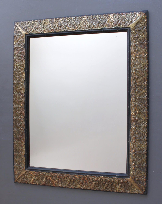 Miroir moderne cuivre oxyd miroir mural design for Miroir mural moderne