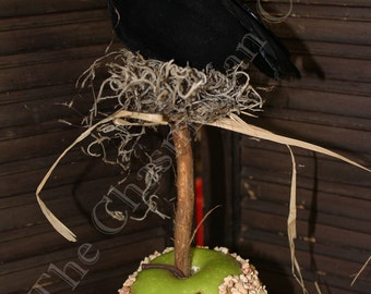Crow on a Caramel Apple