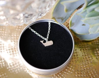 Sterling Silver Whale Necklace / chain / whale gift / gifts for her / whale chain / stocking filler / 925 / hypoallergenic