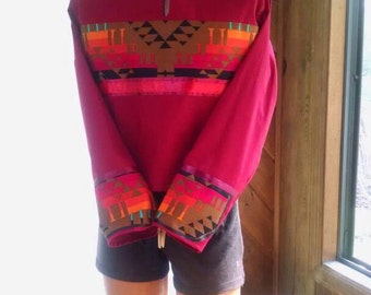RIBBON SHIRT, Women's powwow regalia in Native American cloth style , in Sm, Med, Large sizes. Custom order yours!