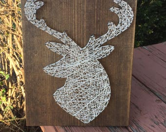 MADE TO ORDER Deer Head Silhouette String Art Sign