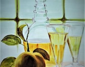 White Wine and Peach, a s...