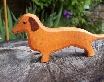 Dachshund dog toy, Teckel dog, Wooden Dog, Dachshund figurine, Waldorf toys. Puppy toy, Teckel toy dog, Toy for Kids, Waldorf toys, wood toy