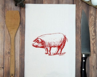 Pig Flour Sack Tea Towel