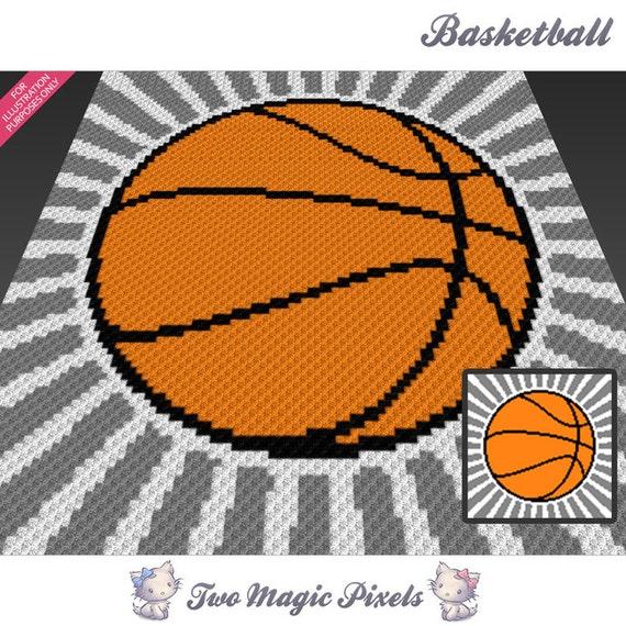 Basketball Crochet Blanket Pattern; C2c, Cross Stitch