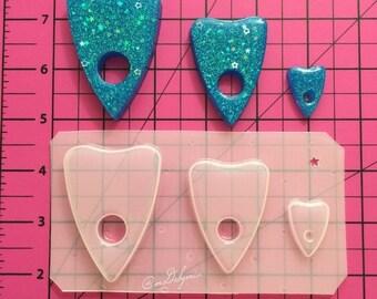 ON SALE Ouija planchette 3 set flexible plastic resin molds