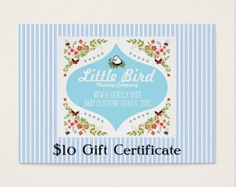 Ten (10) Dollar Gift Certificate