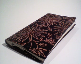 Checkbook holder balinai flower fabric