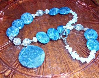 Beaded Necklace - Stars in the Night Sky