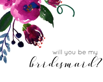 Dahlia Bridesmaid Card